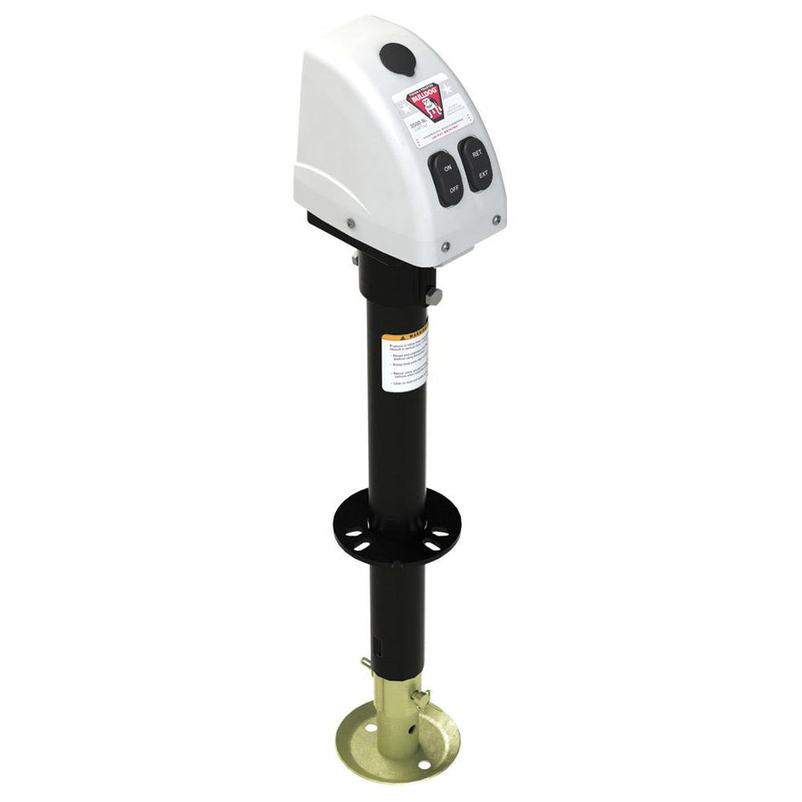 Bulldog 3,500lbs A-Frame RV Jack w/Powered Drive - 12V - White Cover [500188]