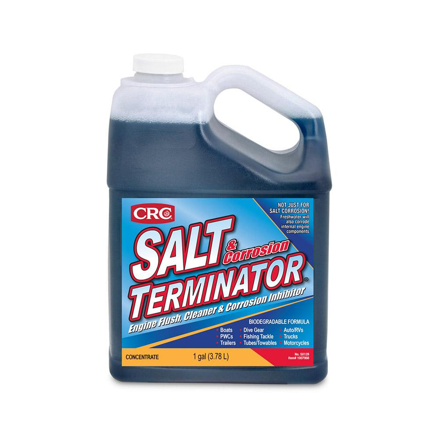 CRC SX128 Salt Terminator Engine Flush, Cleaner Corrosion Inhibitor - 1 Gallon [1007968] - 10X Marine