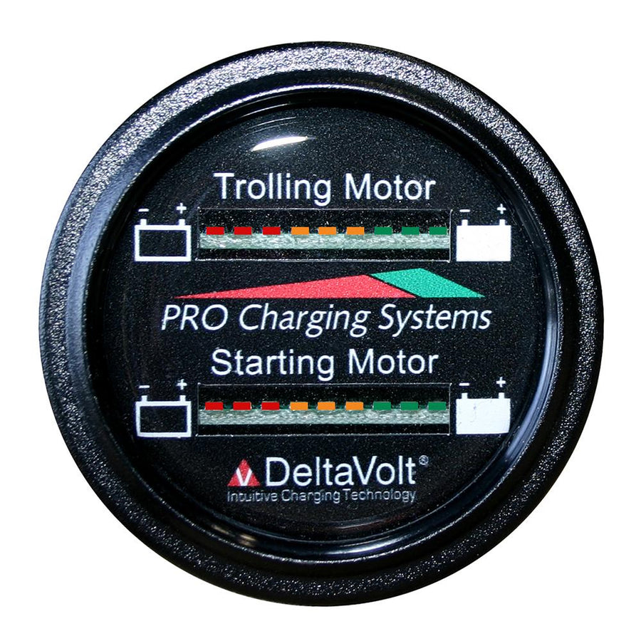 Dual Pro Battery Fuel Gauge - Marine Dual Read Battery Monitor - 12V-36V System - 15 Battery Cable [BFGWOM1536V-12V] - 10X Marine