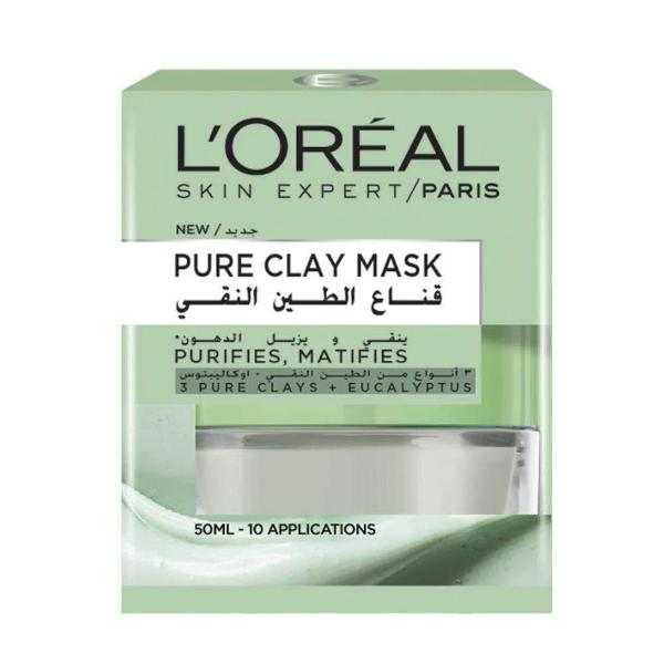 Pure Clay Mask Mattifying and Purifying Face Mask L'Oreal Paris