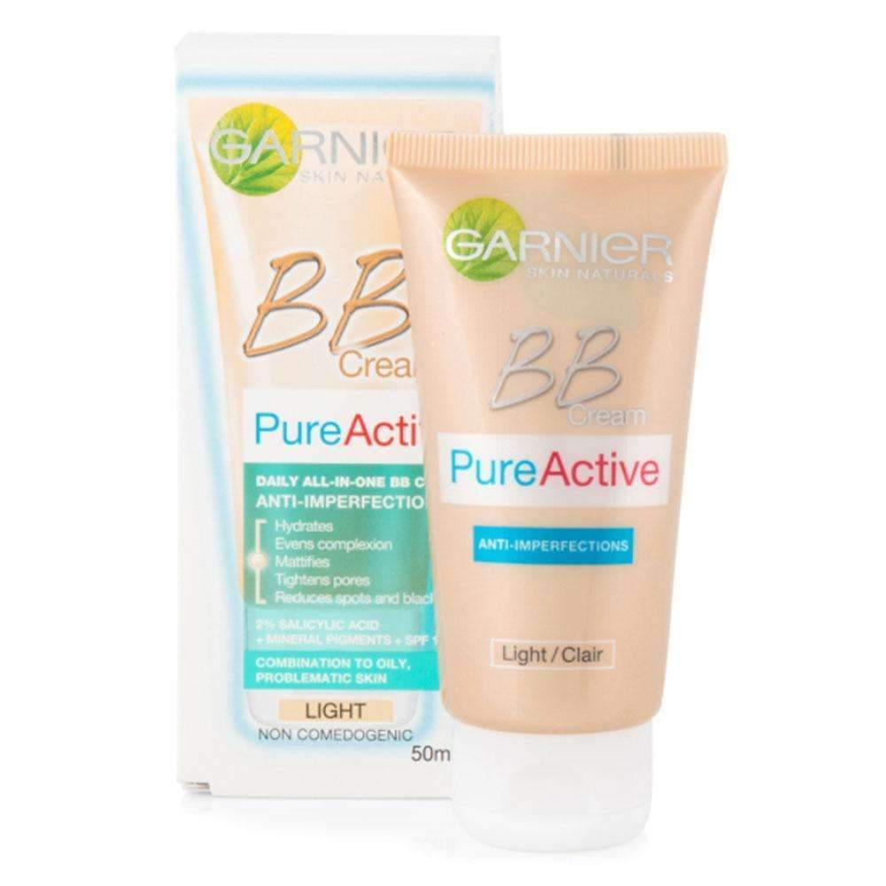 BB Pure Active 5-IN-1 Daily Moisturizer Anti-Imperfections bb cream Garnier 50 ML Light