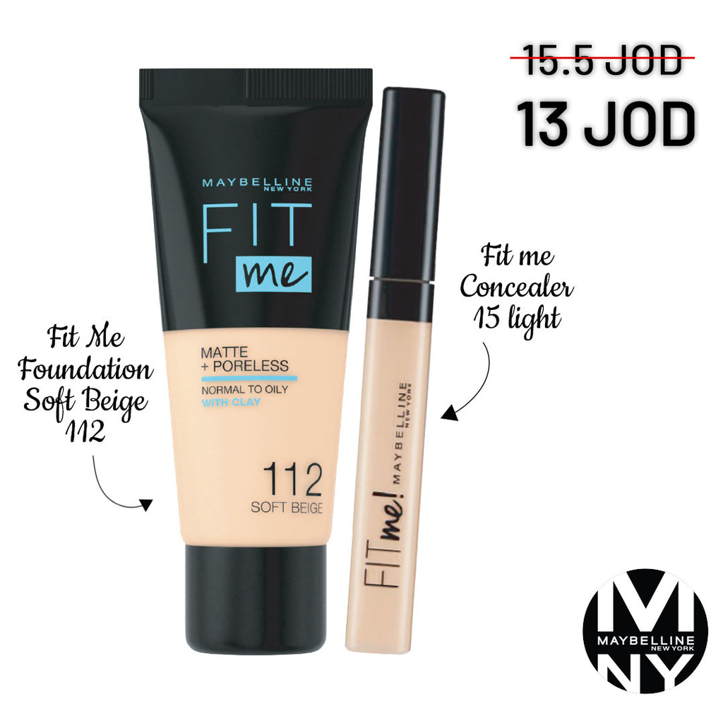 Fit Me Bundle - 112 Soft Beige + 15 Light