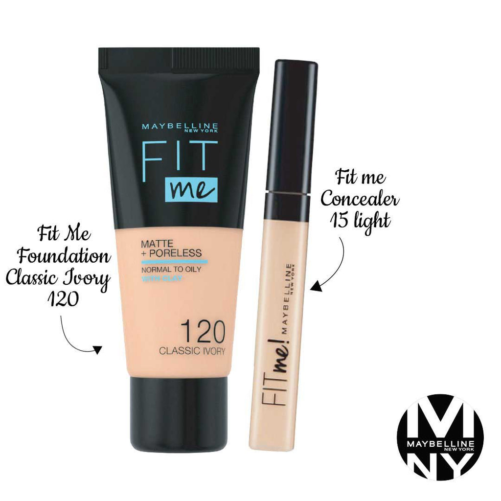 Fit Me Bundle - 120 Classic Ivory + 15 Light