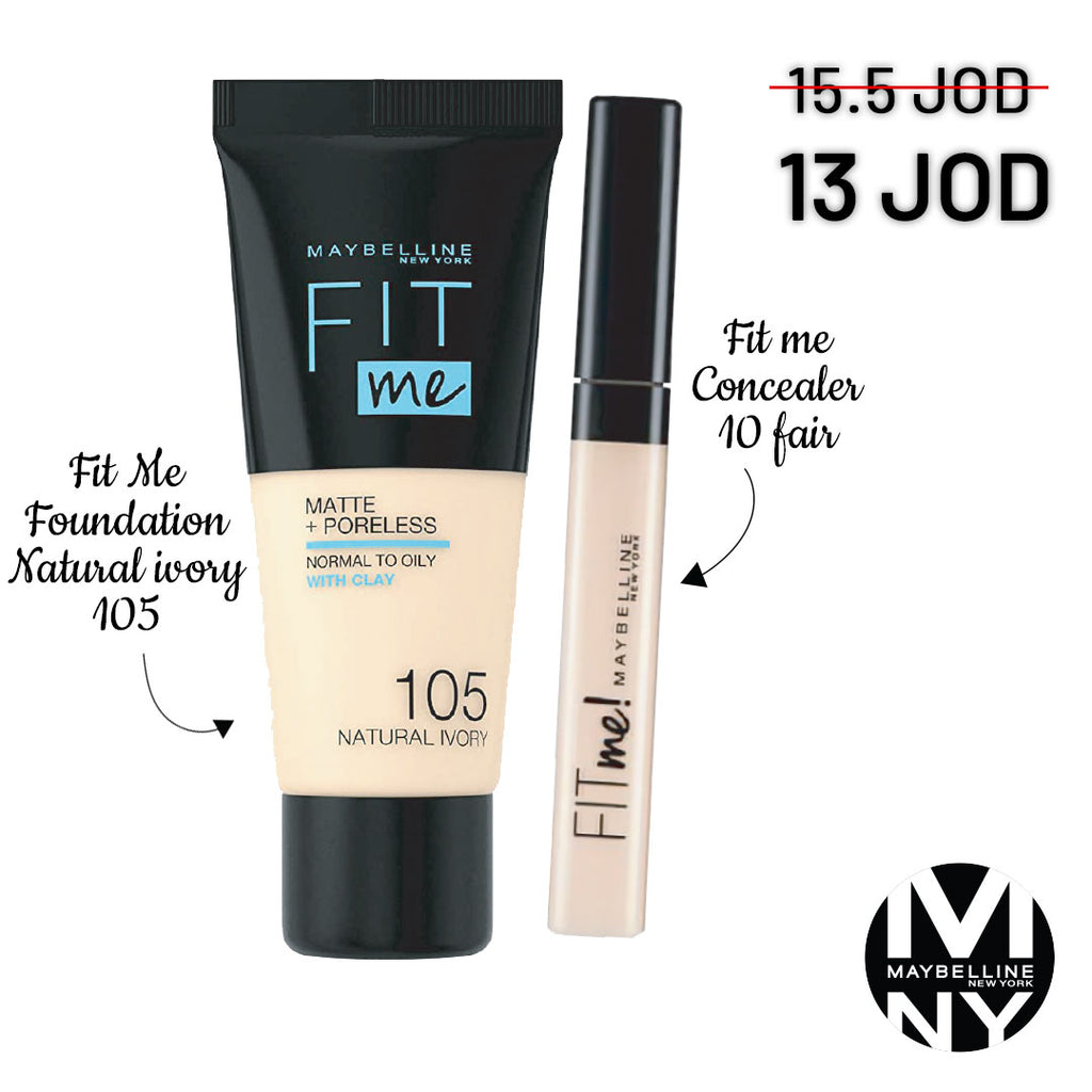 Fit Me Bundle - 105 Fair Ivory + 10 Fair