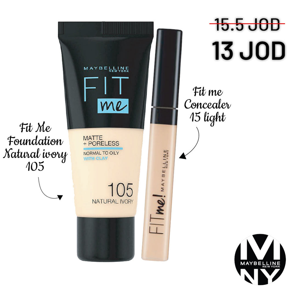 Fit Me Bundle - 105 Fair Ivory + 15 Light