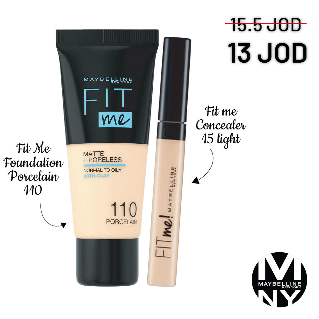 Fit Me Bundle - 110 Porcelain + 15 Light