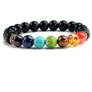 Bracelet de couple 7 chakras