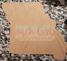 "Load image into Gallery viewer, 12"" Missouri State wooden cutout"