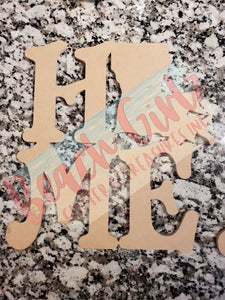 "Home- 12"" wooden cutouts"