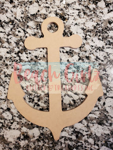 "Anchor-12"" wooden cutout"
