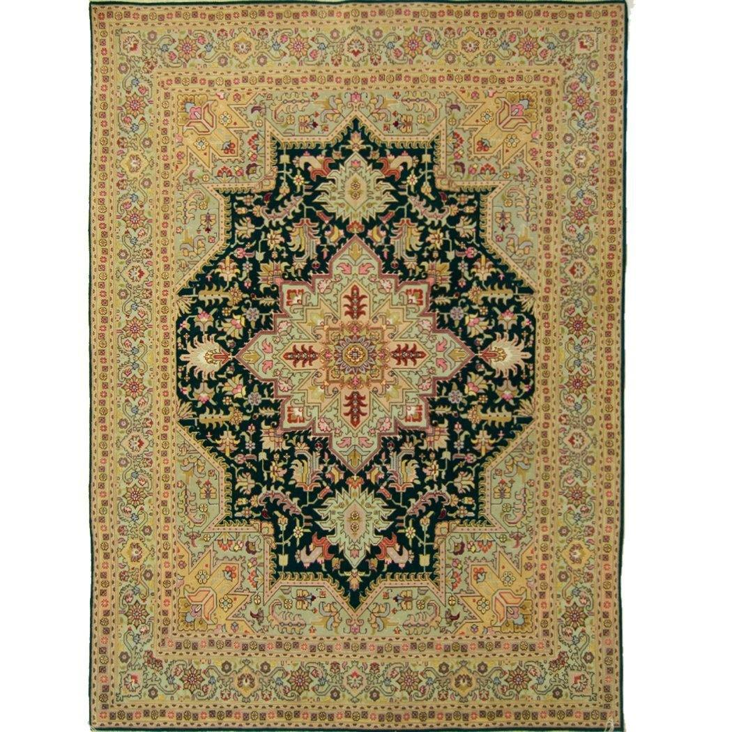 Super Fine Persian Hand-knotted Wool and Silk Tabriz Rug 148 cm x 201 cm - House Of Haghi