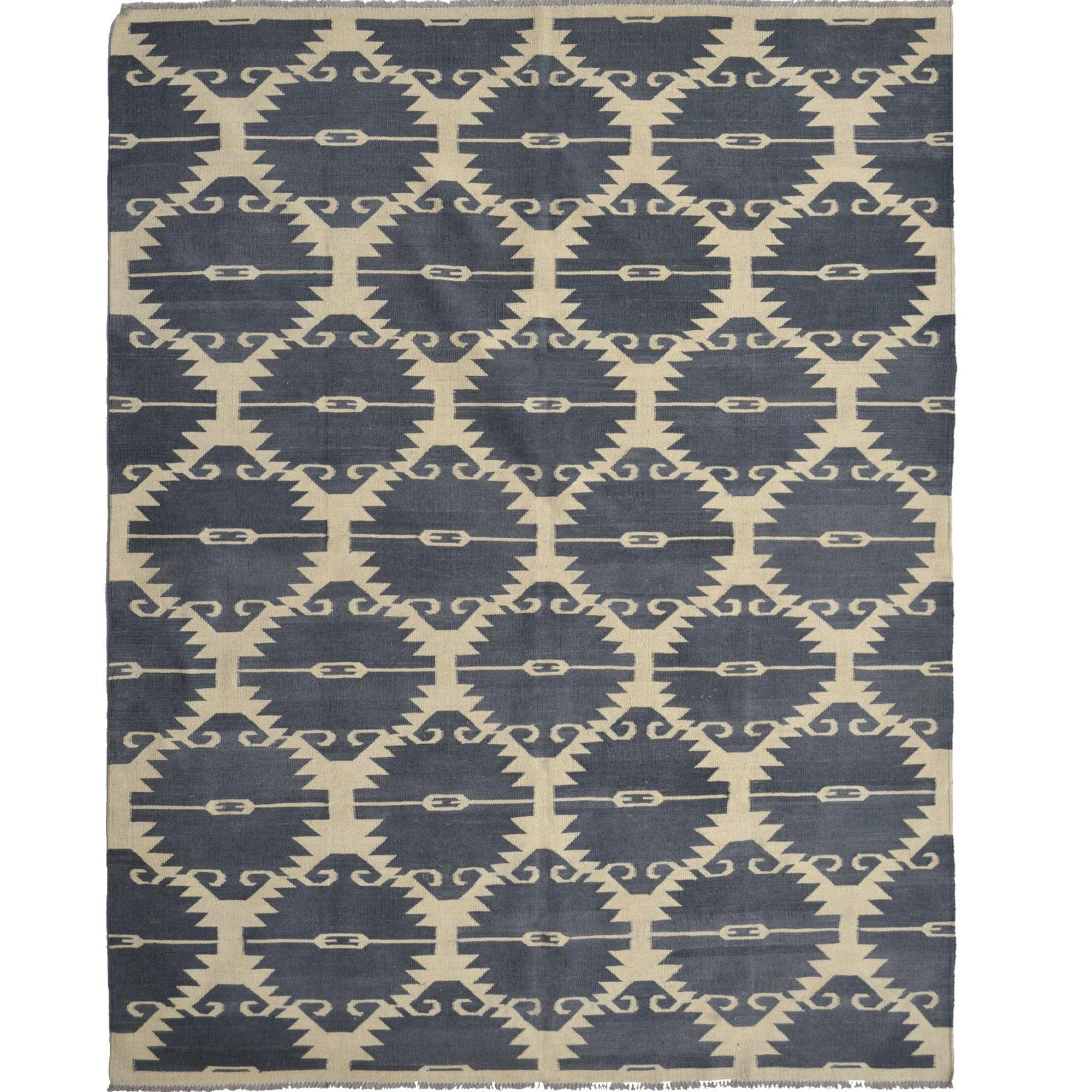 Modern Hand-woven 100% Wool Chobi Kilim Rug 192cm x 248cm Persian-Rug | House-of-Haghi | NewMarket | Auckland | NZ | Handmade Persian Rugs | Hand Knotted Persian Rugs