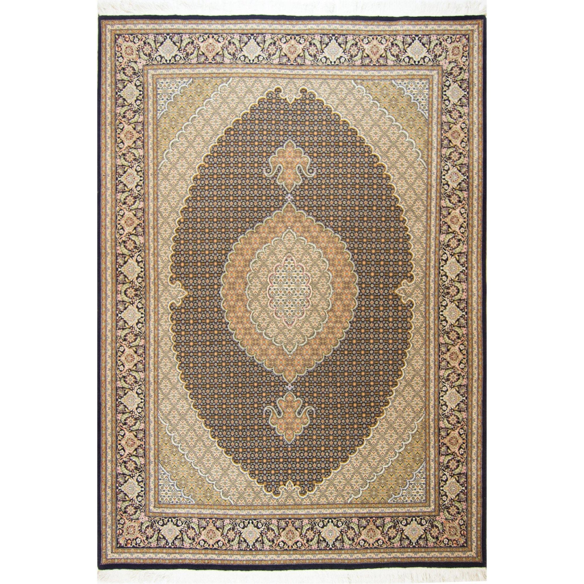 Super Fine Hand-knotted Wool and Silk Persian Tabriz - Mahi Rug 205 cm x 295 cm Persian-Rug | House-of-Haghi | NewMarket | Auckland | NZ | Handmade Persian Rugs | Hand Knotted Persian Rugs