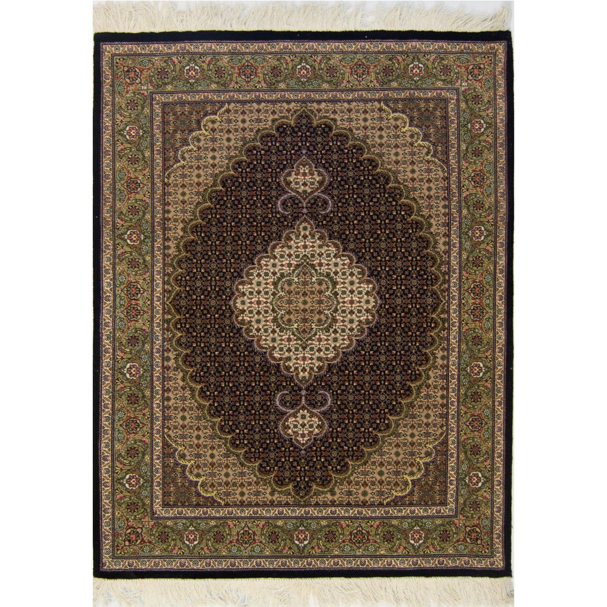 Super Fine Persian Wool and Silk Tabriz - Mahi Rug 107 cm x 157 cm Persian-Rug | House-of-Haghi | NewMarket | Auckland | NZ | Handmade Persian Rugs | Hand Knotted Persian Rugs