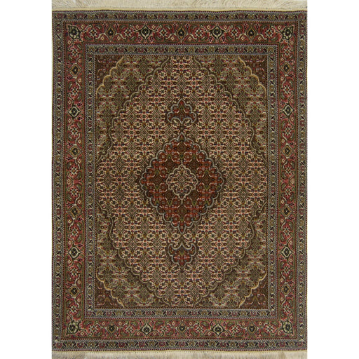 Fine Hand-knotted Wool and Silk Persian Tabriz - Mahi Rug  104cm x 156cm - House Of Haghi