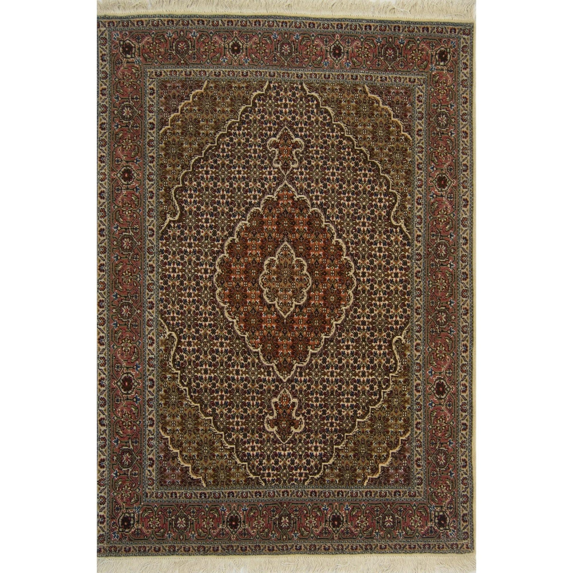 Fine Hand-knotted Wool and Silk Persian Tabriz - Mahi Rug 104cm x 150cm Persian-Rug | House-of-Haghi | NewMarket | Auckland | NZ | Handmade Persian Rugs | Hand Knotted Persian Rugs