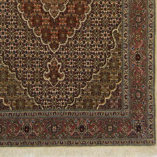 Fine Hand-knotted Wool and Silk Persian Tabriz - Mahi Rug 104cm x 150cm - House Of Haghi
