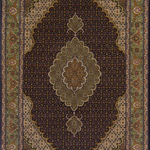 Super Fine Persian Hand-knotted Wool and Silk Tabriz - Mahi Rug 103 cm x 157 cm - House Of Haghi