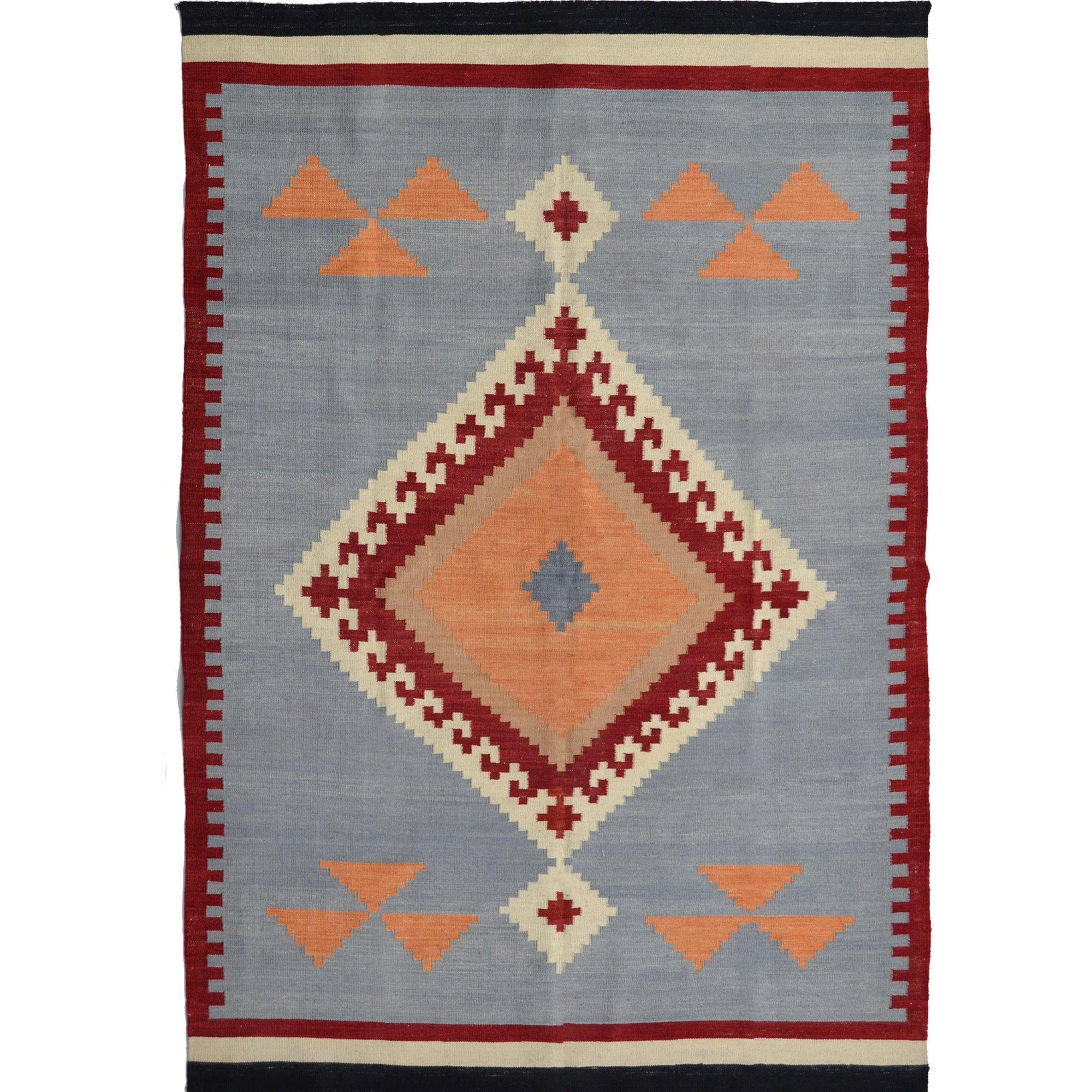 Modern Hand-woven 100% Wool Chobi Kilim Rug 159cm x 211cm Persian-Rug | House-of-Haghi | NewMarket | Auckland | NZ | Handmade Persian Rugs | Hand Knotted Persian Rugs