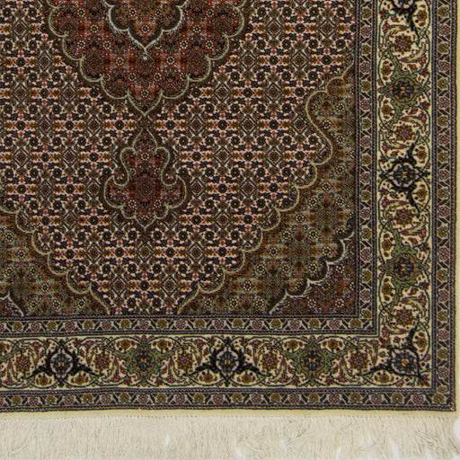 Fine Hand-knotted Persian Wool and Silk Tabriz - Mahi Design Rug 109cm x 148cm - House Of Haghi