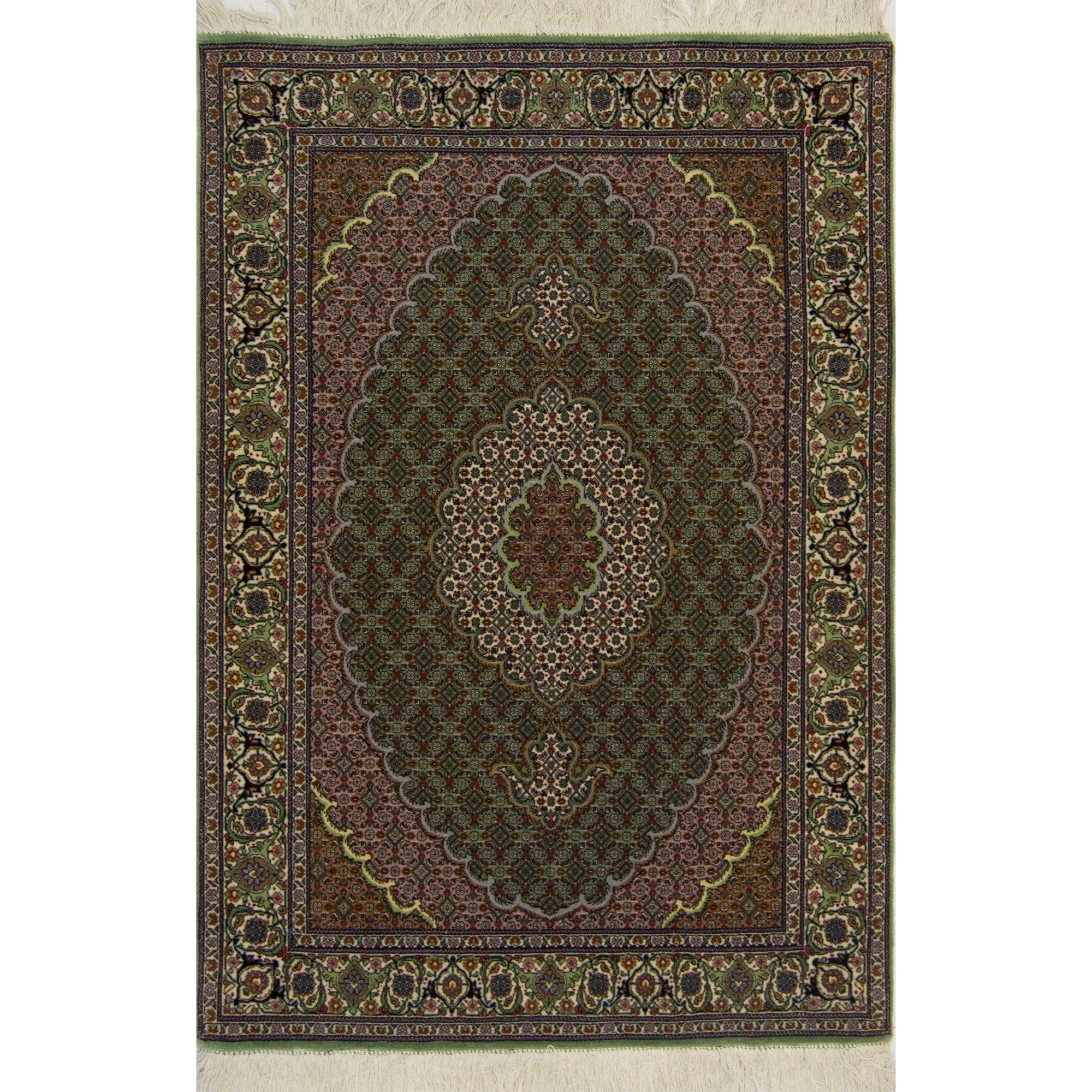 Super Fine Hand-knotted Persian Wool and Silk Tabriz - Mahi Rug 103 cm x 148 cm Persian-Rug | House-of-Haghi | NewMarket | Auckland | NZ | Handmade Persian Rugs | Hand Knotted Persian Rugs