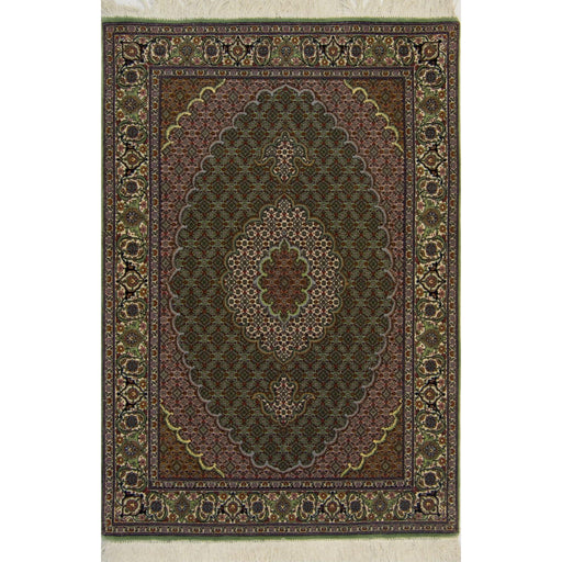 1 x 1.5 Meter_Persian_Super Fine Hand-knotted Persian Wool and Silk Tabriz - Mahi Rug_handknotted_Rug