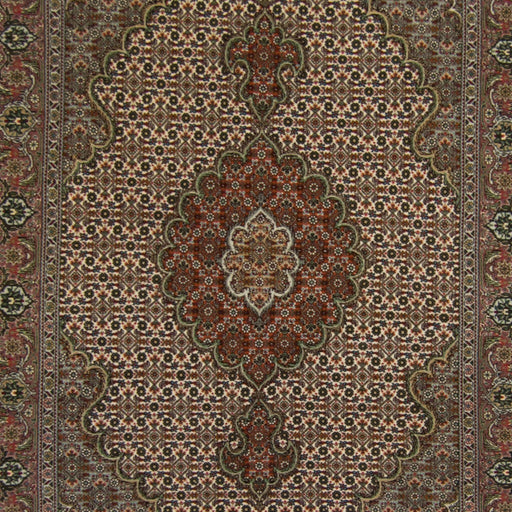 Fine Wool and Silk Hand-knotted Persian Tabriz - Mahi Rug  101cm x 152cm - House Of Haghi