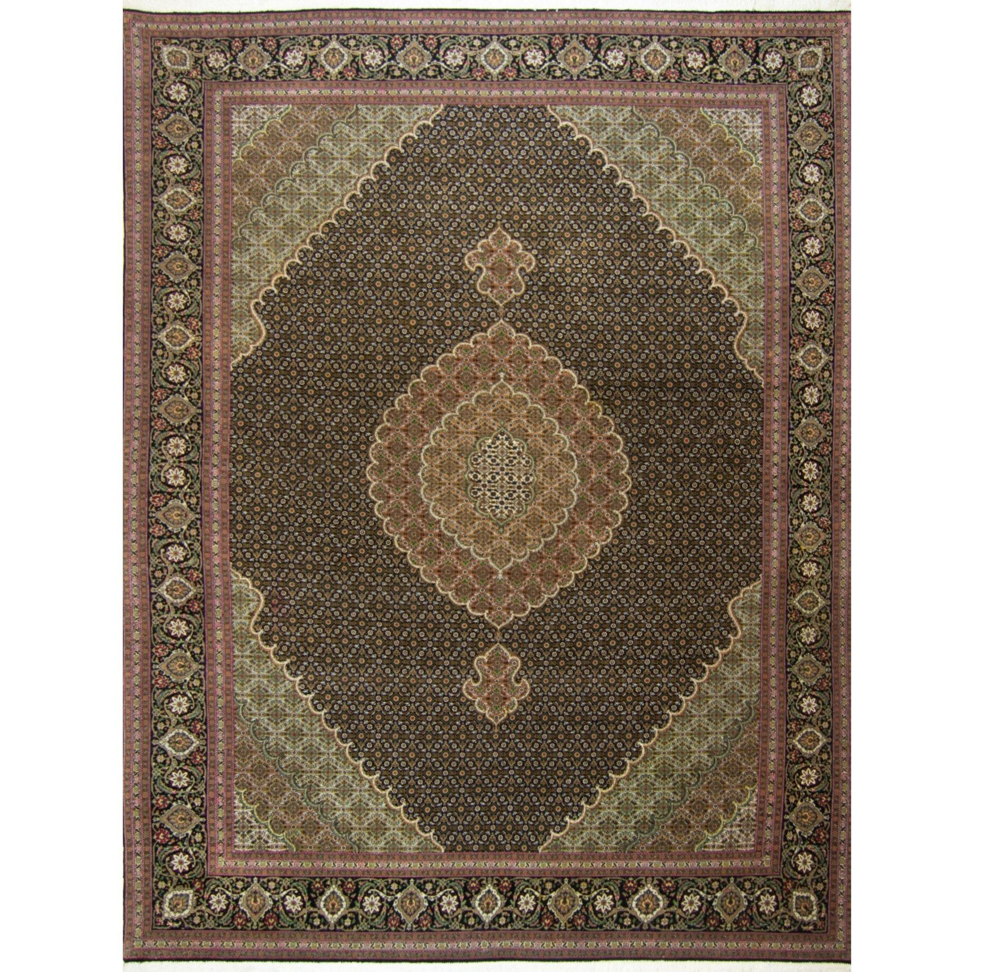 Super Fine Hand-knotted Persian Wool and Silk Tabriz - Mahi Rug 204 cm x 297 cm Persian-Rug | House-of-Haghi | NewMarket | Auckland | NZ | Handmade Persian Rugs | Hand Knotted Persian Rugs