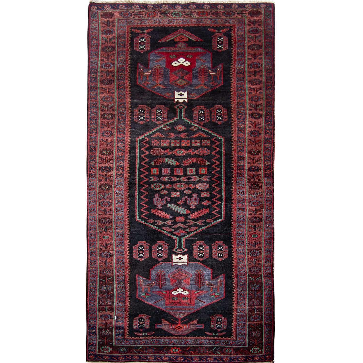 Fine Hand-knotted Wool Tribal Kolyai Persian Runner 130cm x 306cm Persian-Rug | House-of-Haghi | NewMarket | Auckland | NZ | Handmade Persian Rugs | Hand Knotted Persian Rugs