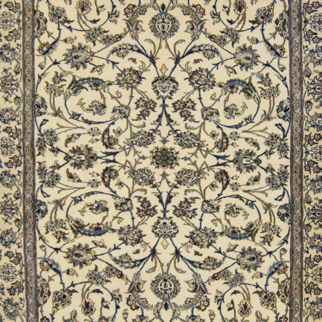 Authentic Fine Hand-knotted Persian Wool and Silk Nain Rug 249cm x 345cm - House Of Haghi