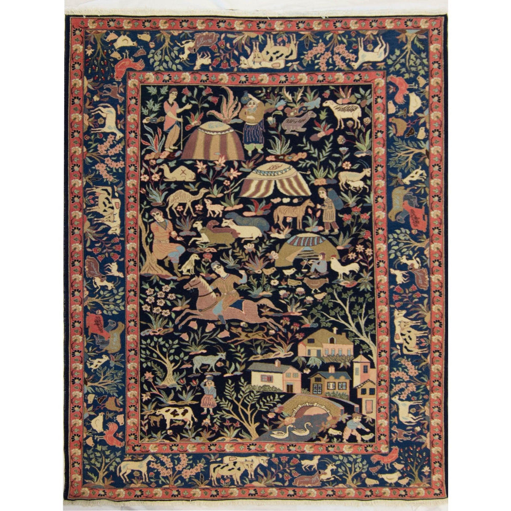 Collectible Fine Hand-knotted Persian Wool Baluchi Rug 215cm x 273cm - House Of Haghi