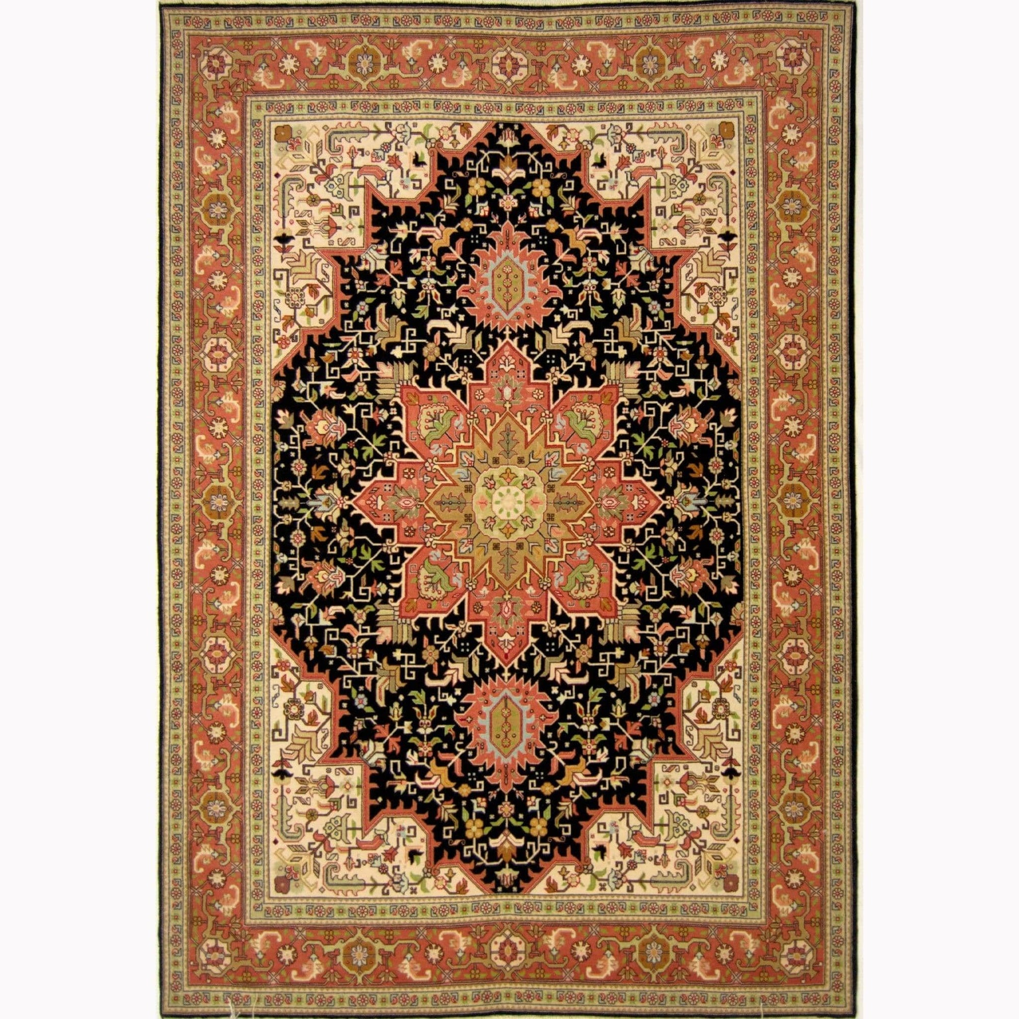 Super Fine Hand-knotted Persian Wool and Silk Tabriz Rug 148cm x 210cm Persian-Rug | House-of-Haghi | NewMarket | Auckland | NZ | Handmade Persian Rugs | Hand Knotted Persian Rugs