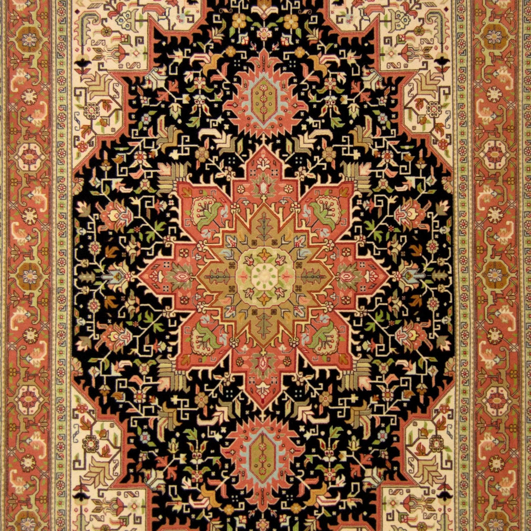 1.5 x 2 Meter_Persian_Super Fine Hand-knotted Persian Wool and Silk Tabriz Rug_handknotted_Rug