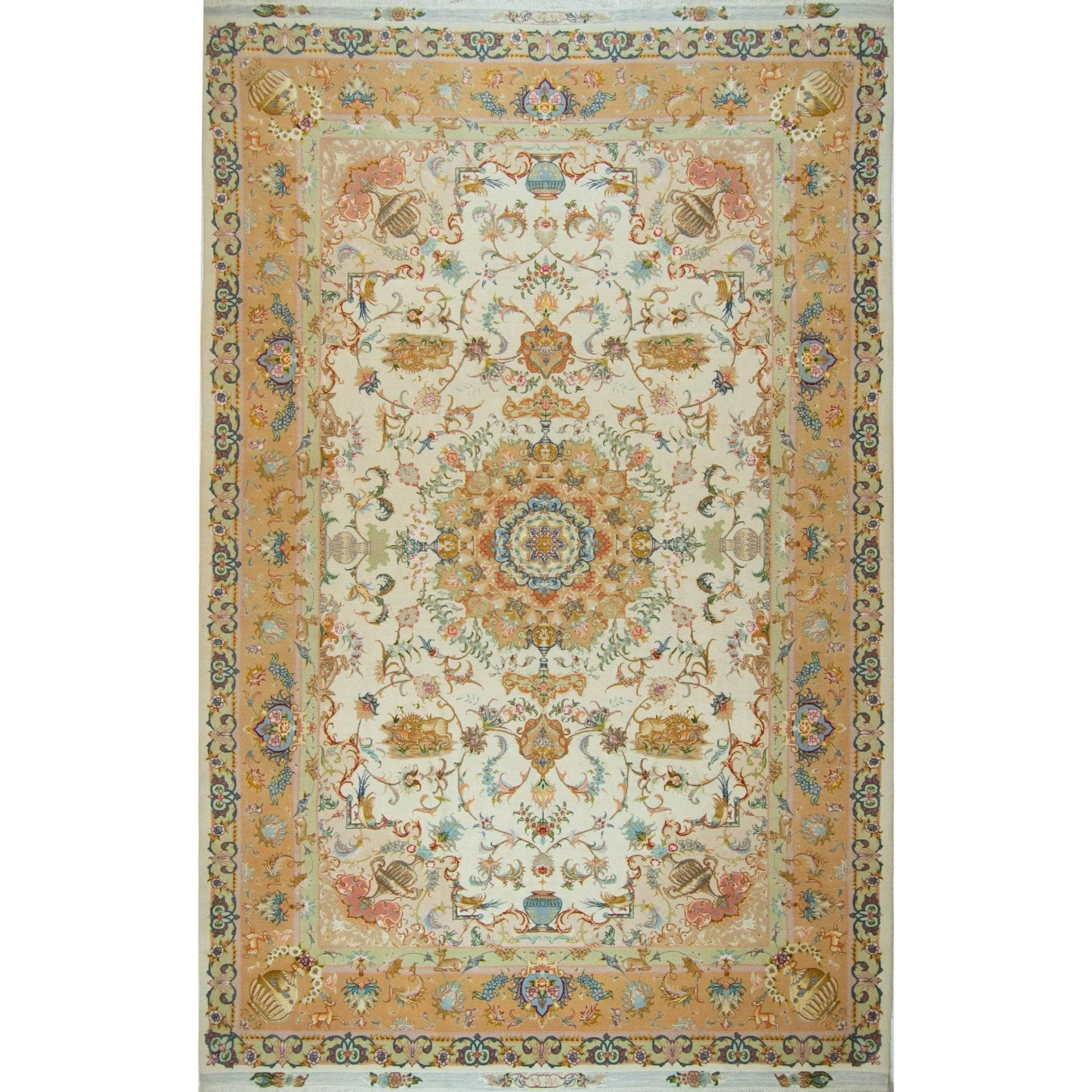 Super Fine Hand-knotted Wool and Silk Persian Rug ( SINGED ) Persian-Rug | House-of-Haghi | NewMarket | Auckland | NZ | Handmade Persian Rugs | Hand Knotted Persian Rugs