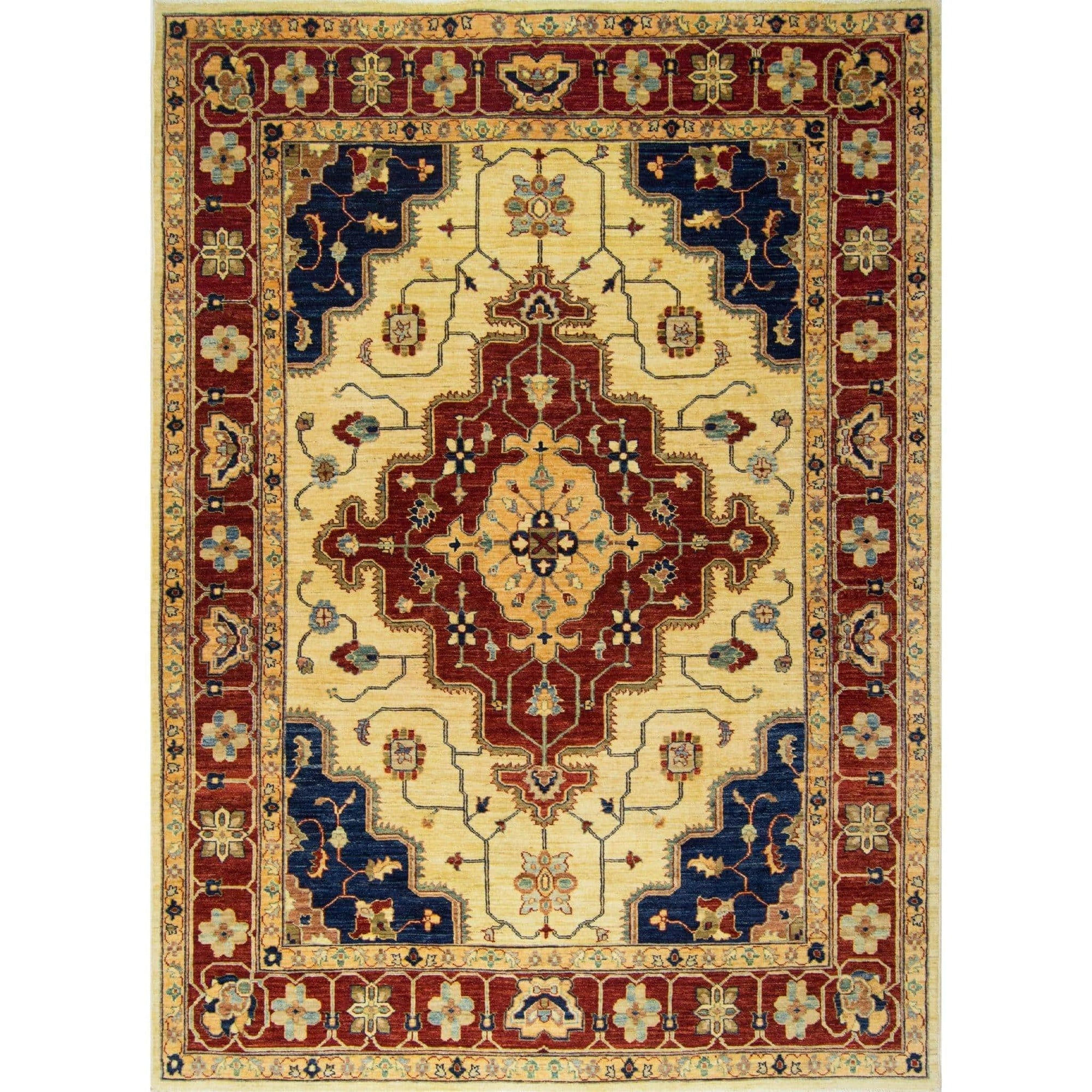 Fine Hand-knotted Wool Heriz Rug 188cm x 254cm Persian-Rug | House-of-Haghi | NewMarket | Auckland | NZ | Handmade Persian Rugs | Hand Knotted Persian Rugs