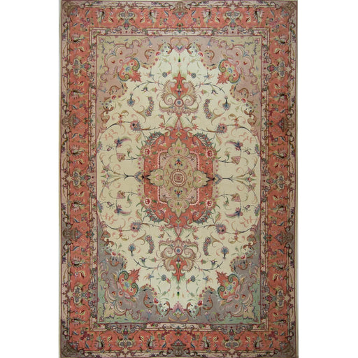 Super Fine Hand-knotted Persian Wool and Silk Tabriz Rug 204 cm x 313 cm - House Of Haghi