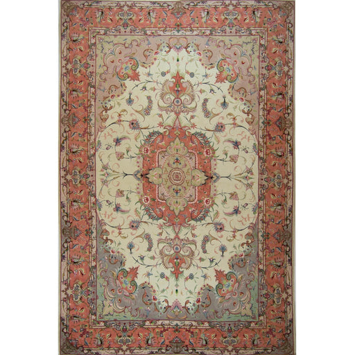 Super Fine Hand-knotted Persian Wool and Silk Tabriz Rug ( SIGNED )204 cm x 313 cm - House Of Haghi