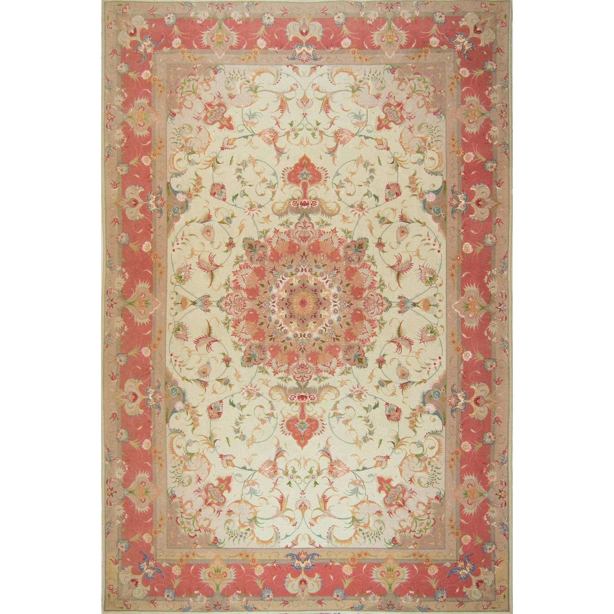 Super Fine Hand-knotted Persian Wool and Silk Tabriz Rug (SIGNED) 205cm x 305cm Persian-Rug | House-of-Haghi | NewMarket | Auckland | NZ | Handmade Persian Rugs | Hand Knotted Persian Rugs