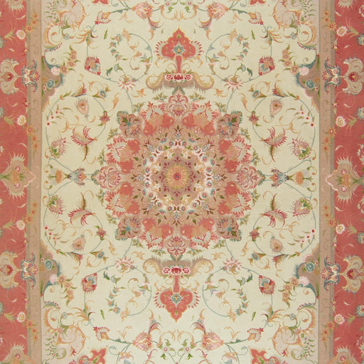 Super Fine Hand-knotted Persian Wool and Silk Tabriz Rug 205 cm x 305 cm - House Of Haghi