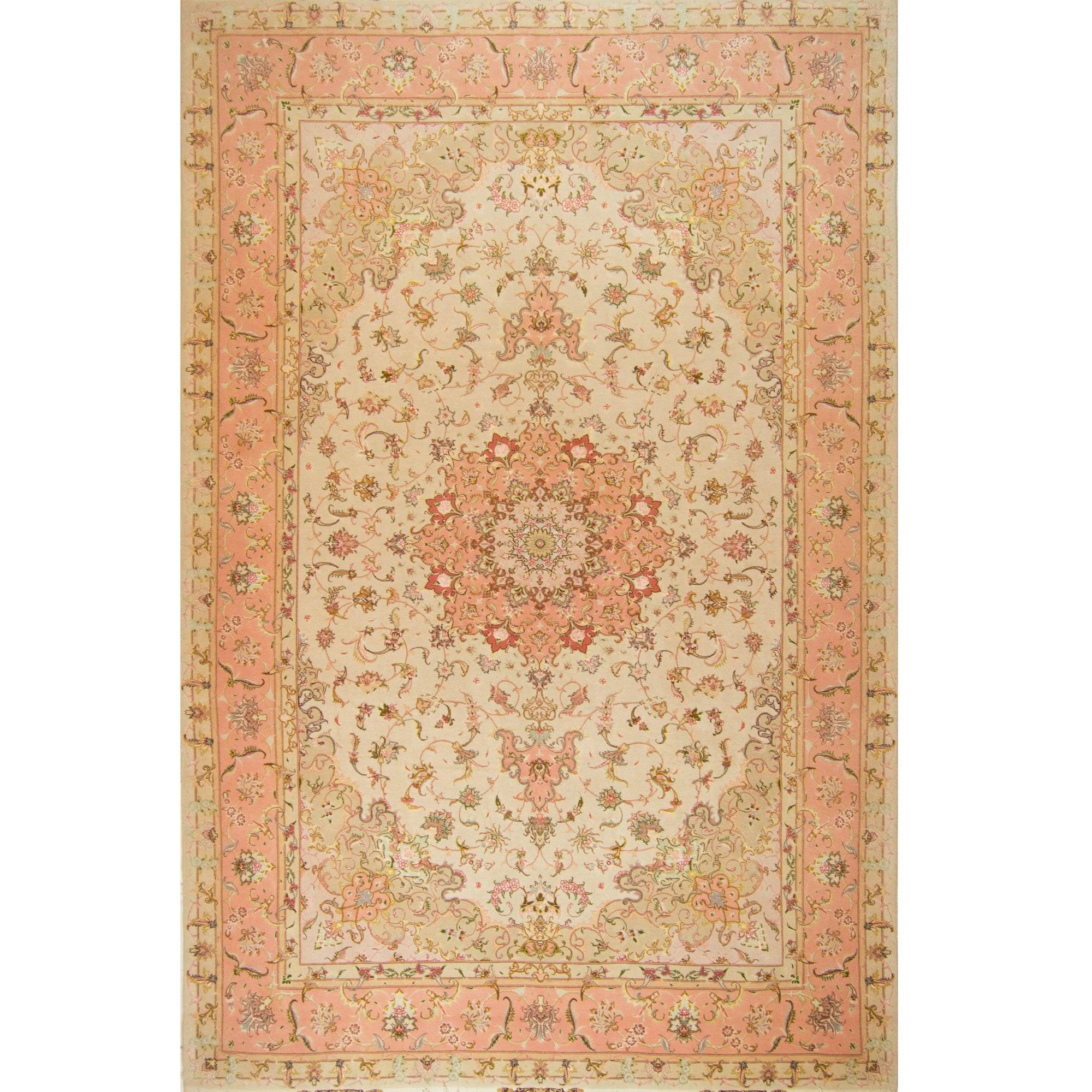Super Fine Hand-knotted Persian Wool and Silk Tabriz Rug ( SIGNED )202 cm x 310 cm Persian-Rug | House-of-Haghi | NewMarket | Auckland | NZ | Handmade Persian Rugs | Hand Knotted Persian Rugs