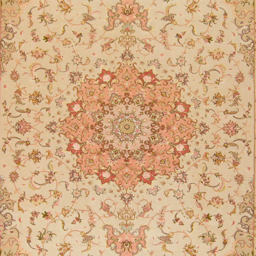 Super Fine Hand-knotted Persian Wool and Silk Tabriz Rug 202 cm x 310 cm - House Of Haghi