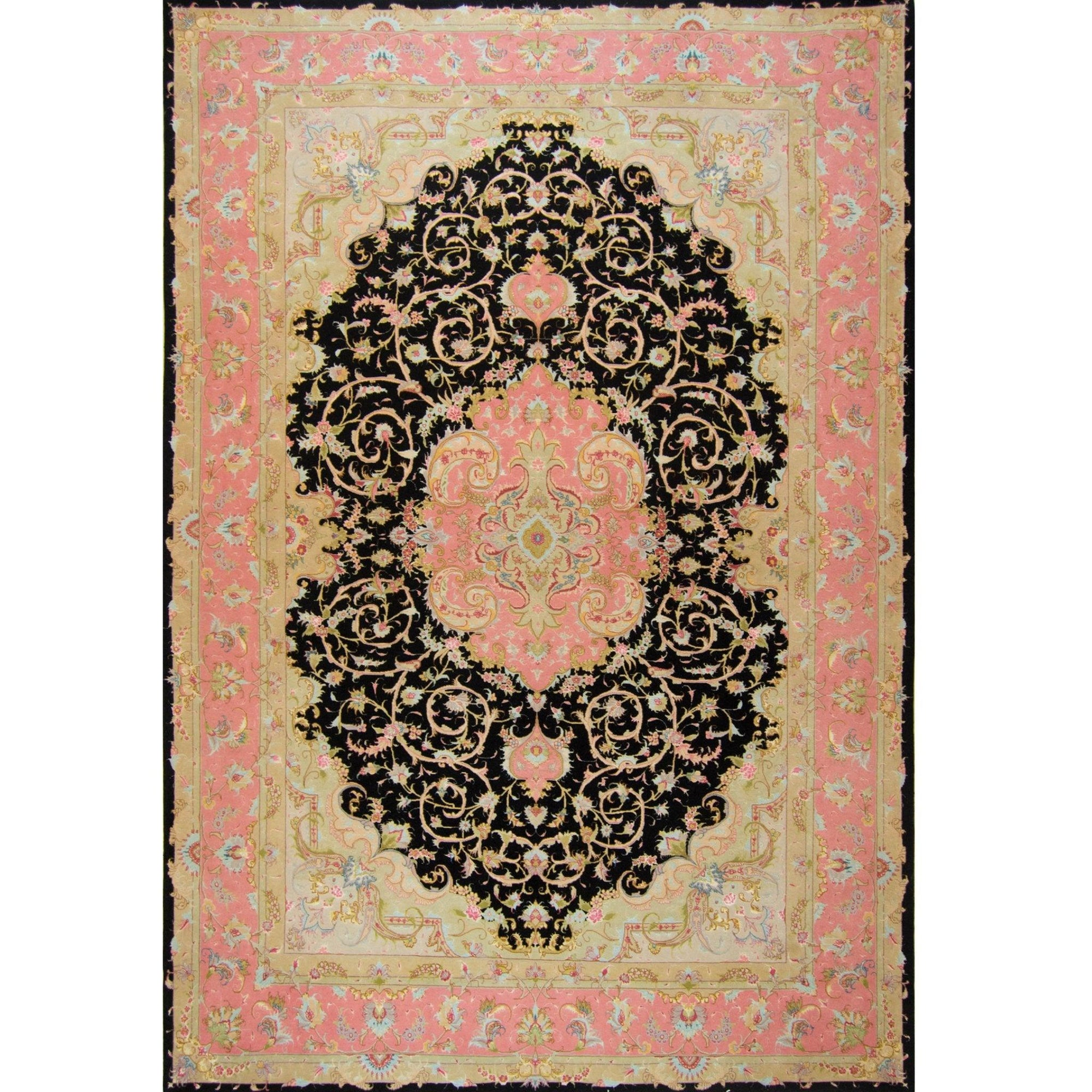 Super Fine Hand-knotted Persian Wool and Silk Tabriz Rug ( SIGNED ) 202 cm x 299 cm Persian-Rug | House-of-Haghi | NewMarket | Auckland | NZ | Handmade Persian Rugs | Hand Knotted Persian Rugs