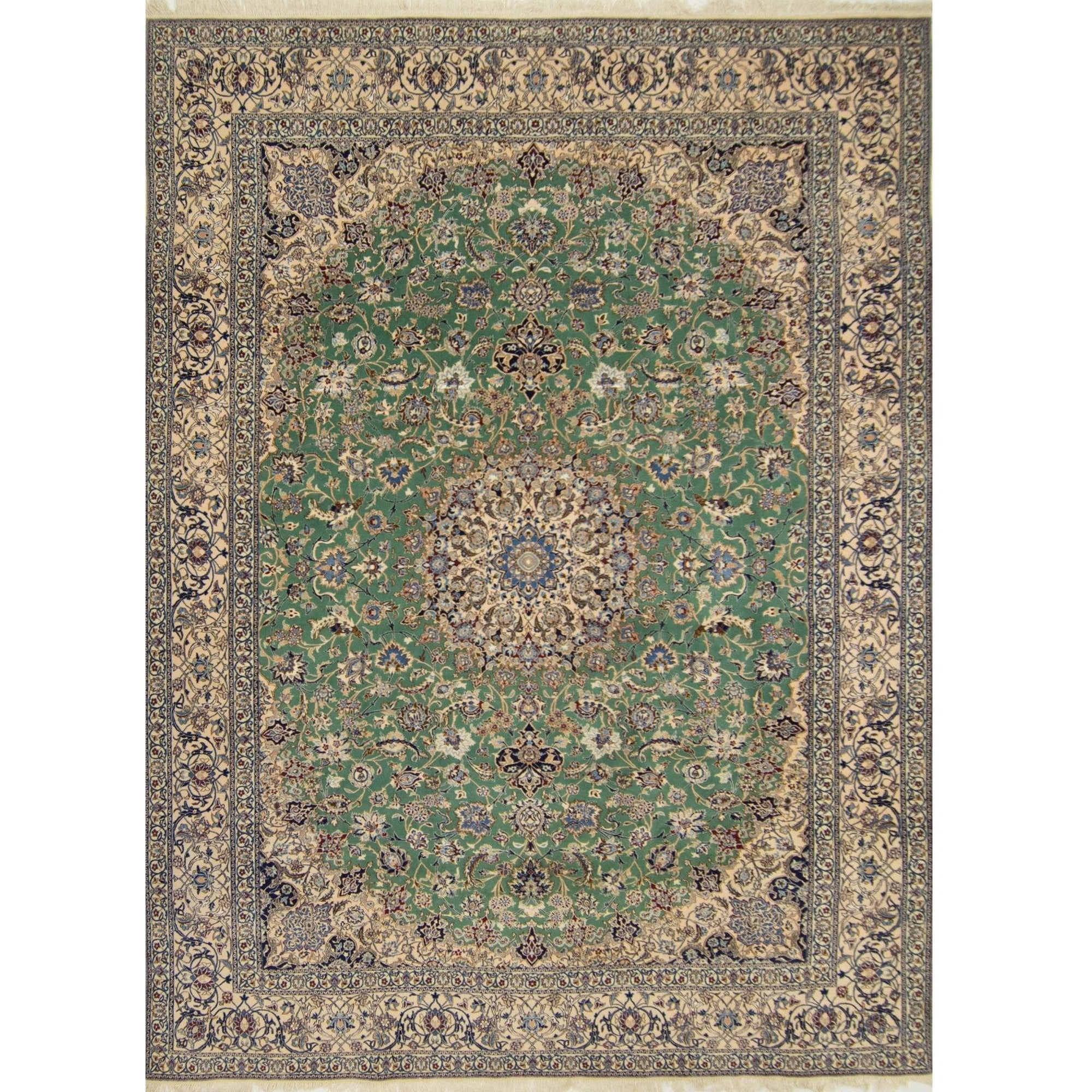 Genuine Super Fine Hand-knotted Persian Wool & Silk Nain Rug (SIGNED HABIBIAN ) 254cm x 357cm Persian-Rug | House-of-Haghi | NewMarket | Auckland | NZ | Handmade Persian Rugs | Hand Knotted Persian Rugs
