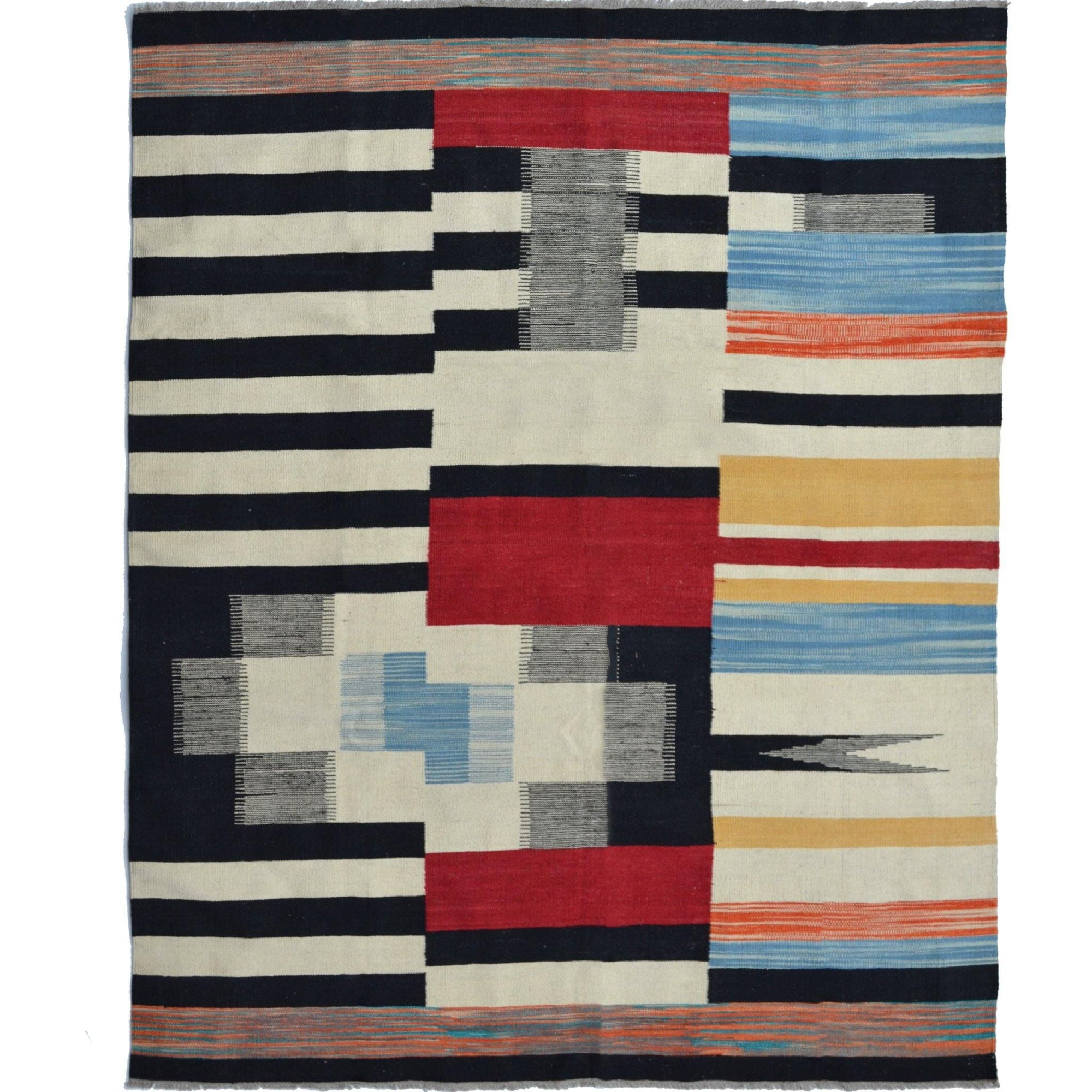 Modern Hand-woven 100% Wool Chobi Kilim Rug 190cm x 237cm Persian-Rug | House-of-Haghi | NewMarket | Auckland | NZ | Handmade Persian Rugs | Hand Knotted Persian Rugs