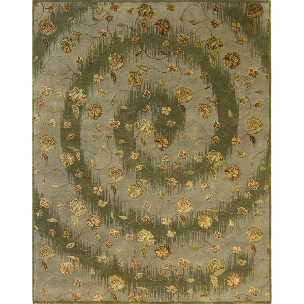 Modern High Hand-knotted Wool & Silk Rug 238 cm x 301 cm - House Of Haghi