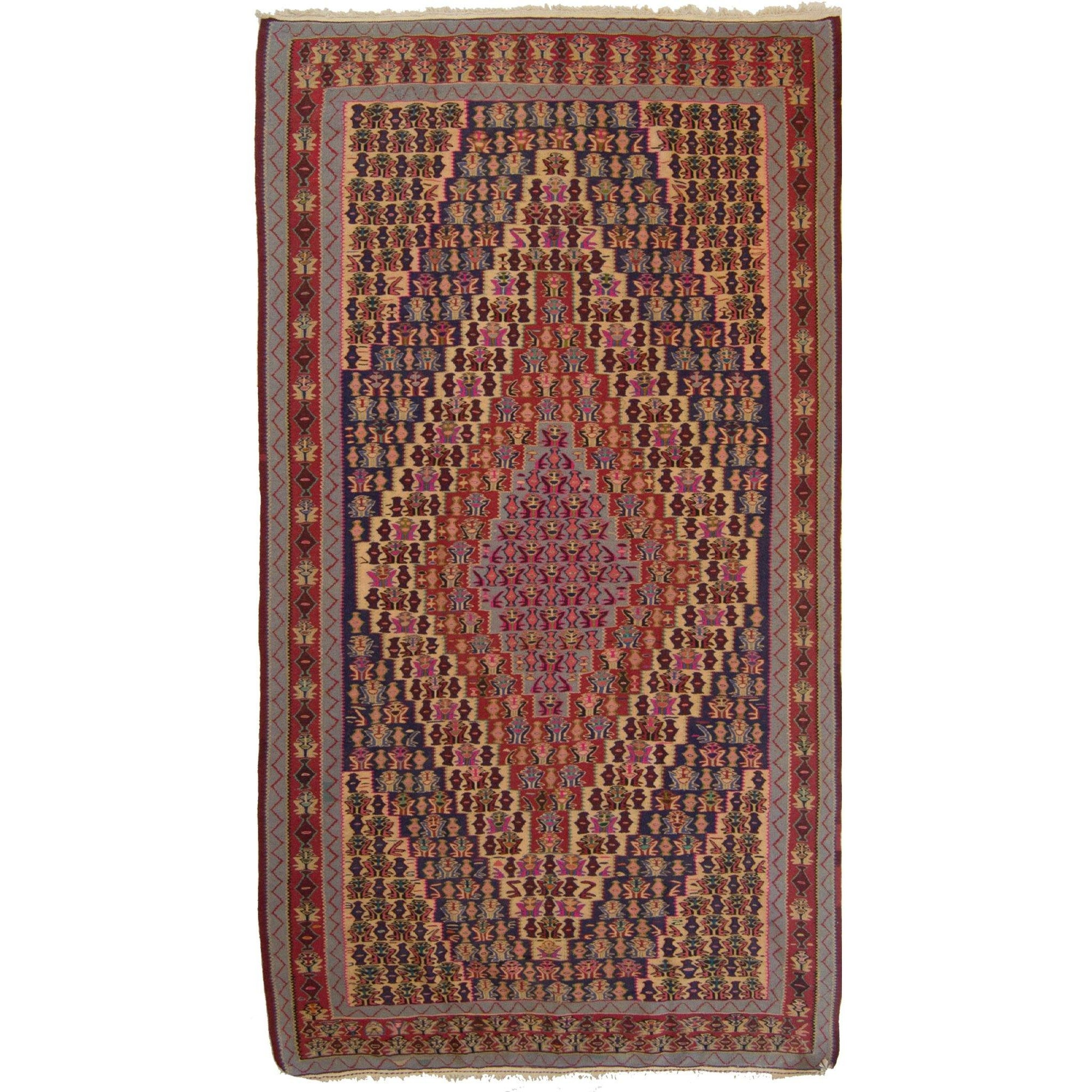 Persian Kilim Senneh 148cm x 248cm Persian-Rug | House-of-Haghi | NewMarket | Auckland | NZ | Handmade Persian Rugs | Hand Knotted Persian Rugs