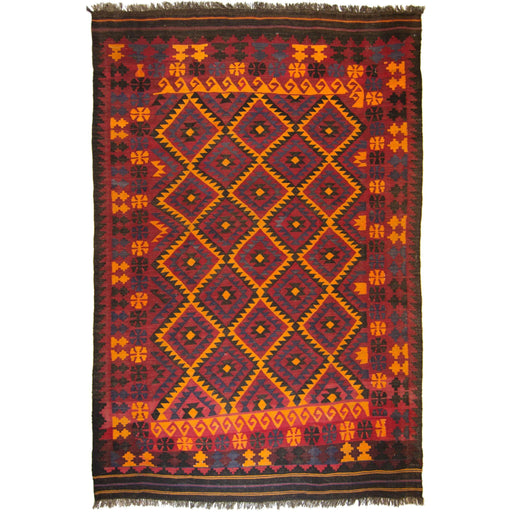 Hand-woven Persian Kilim 201cm x 293cm - House Of Haghi