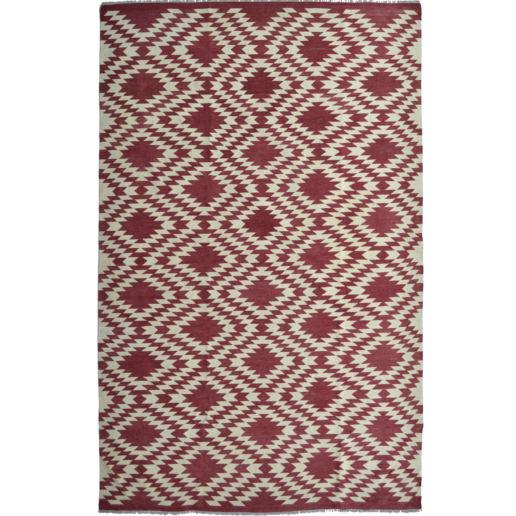 Modern Hand-woven 100% Wool Afghan Chobi Kilim Rug 210cm x 302cm Persian-Rug | House-of-Haghi | NewMarket | Auckland | NZ | Handmade Persian Rugs | Hand Knotted Persian Rugs