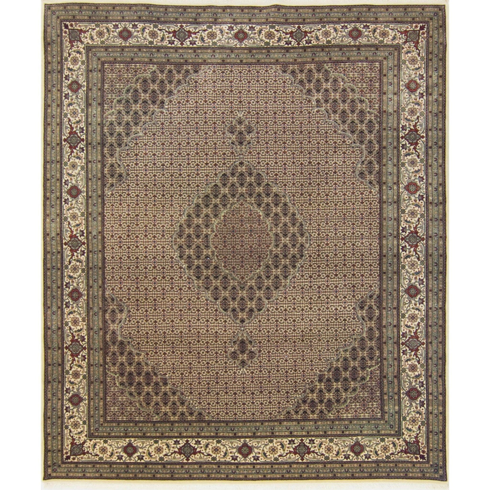 Super Fine Hand-knotted Wool and Silk Tabriz - Mahi Rug 248 cm x 305 cm Persian-Rug | House-of-Haghi | NewMarket | Auckland | NZ | Handmade Persian Rugs | Hand Knotted Persian Rugs