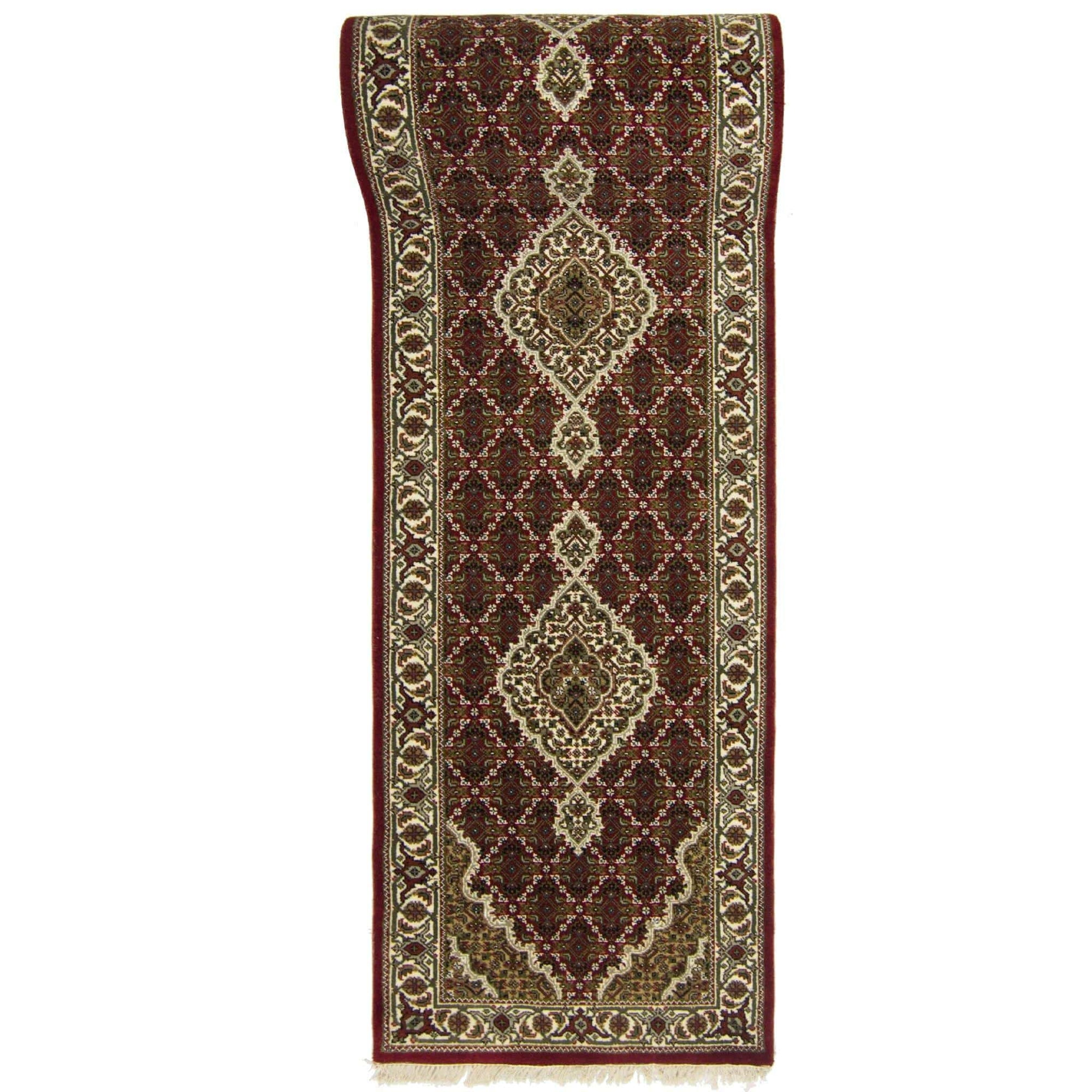 Super Fine Hand-knotted Wool and Silk Tabriz - Mahi Runner 81 cm x 305 cm Persian-Rug | House-of-Haghi | NewMarket | Auckland | NZ | Handmade Persian Rugs | Hand Knotted Persian Rugs